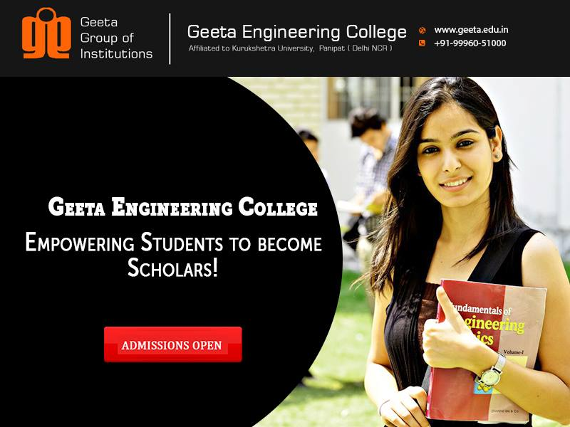 Best B.Tech Colleges in Delhi NCR - Geeta Engineering College