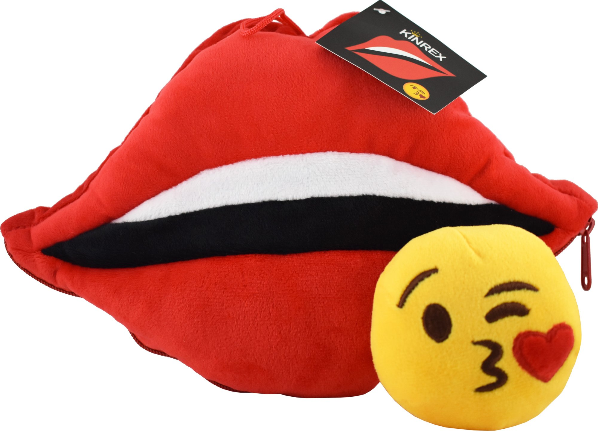 Lips Pillow With Blow Kiss Emoji