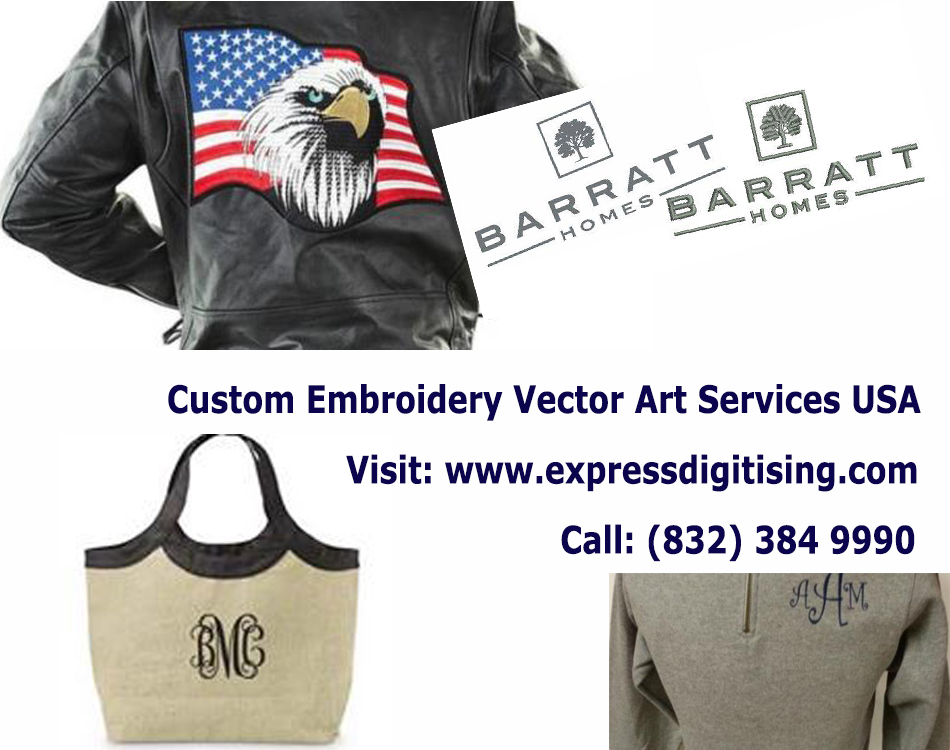 Custom Embroidery Digitizing Services - Expressdigitising.Com
